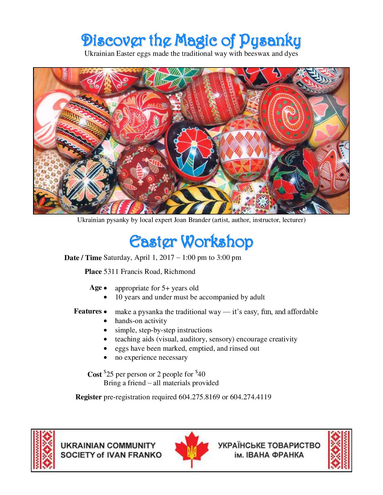 Pysanky Workshop 2017